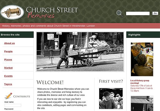 Photo: Illustrative image for the 'Church Street Memories' page