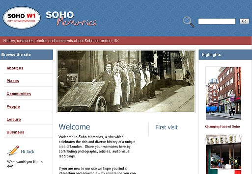 Photo: Illustrative image for the 'Soho Memories' page
